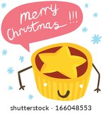 funny mince pie character with...