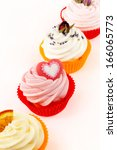 various cupcakes against white... | Shutterstock . vector #166065773