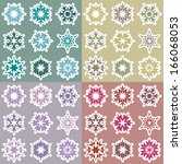 set of snowflakes | Shutterstock .eps vector #166068053