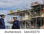 construction workers ... | Shutterstock . vector #166103273