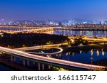 seoul city night | Shutterstock . vector #166115747