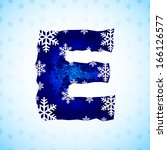 winter decorations. alphabet... | Shutterstock .eps vector #166126577