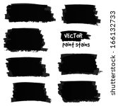 black vector paint stains | Shutterstock .eps vector #166132733