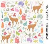 christmas background | Shutterstock .eps vector #166159703