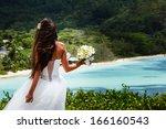 bride  beautiful young girl... | Shutterstock . vector #166160543