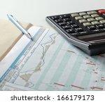 calculator on a diagramm | Shutterstock . vector #166179173