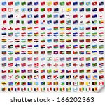 set wavy flags | Shutterstock . vector #166202363