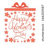 valentines day greeting design... | Shutterstock .eps vector #166203587