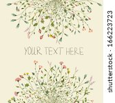 floral vector card  | Shutterstock .eps vector #166223723