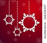 red christmas design with space ... | Shutterstock .eps vector #166236107