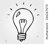 vector light bulb hand drawn ... | Shutterstock .eps vector #166267673