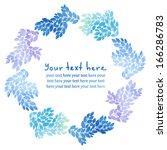 round floral frame | Shutterstock .eps vector #166286783