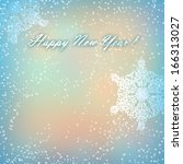 merry christmas and happy new... | Shutterstock . vector #166313027