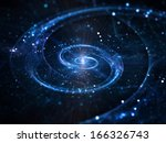 Spiral Galaxy In Deep Space ...