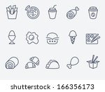 food icons | Shutterstock .eps vector #166356173