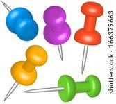 thumbtacks set for various...   Shutterstock . vector #166379663