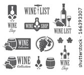 set of wine signs  badges and... | Shutterstock .eps vector #166393307