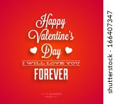 happy valentines day card... | Shutterstock .eps vector #166407347