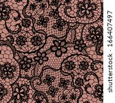 lace black seamless pattern... | Shutterstock .eps vector #166407497