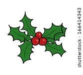 cartoon holly | Shutterstock .eps vector #166414343