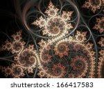 Fiery Theme Fractal Spirals ...