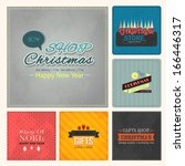 christmas badge  tags  labels ... | Shutterstock .eps vector #166446317
