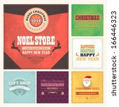 christmas badge  tags  labels ... | Shutterstock .eps vector #166446323