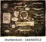 calligraphic design elements | Shutterstock .eps vector #166460513
