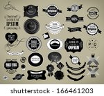 vector set  label  frame ... | Shutterstock .eps vector #166461203