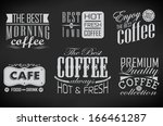 poster lettering take coffee ... | Shutterstock .eps vector #166461287