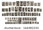 old typeset numbers | Shutterstock . vector #166482233