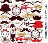 retro vintage pattern   Shutterstock .eps vector #166494233