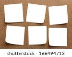 white memo stick on board | Shutterstock . vector #166494713