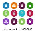 gift package circle icons on...