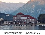 view of old houses of dobrota ... | Shutterstock . vector #166505177