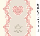 vintage template with... | Shutterstock .eps vector #166529807