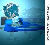 background internet concept of... | Shutterstock . vector #166550603