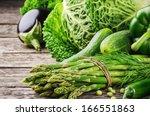 Fresh Green Vegetables On...