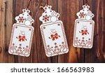 trendy 3d rendered christmas... | Shutterstock . vector #166563983