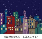 colorful abstract urban... | Shutterstock .eps vector #166567517