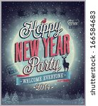 new year poster. vector...   Shutterstock .eps vector #166584683