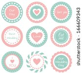 set of tags  labels for wedding ... | Shutterstock . vector #166609343