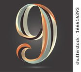 vintage retro style shiny... | Shutterstock .eps vector #166616393