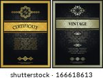 set of certificates. vintage... | Shutterstock .eps vector #166618613