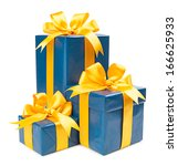 gift concept. turquoise present ... | Shutterstock . vector #166625933