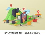 e commerce vector illustration | Shutterstock .eps vector #166634693