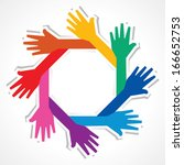 creative hand icon   vector... | Shutterstock .eps vector #166652753