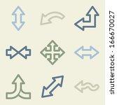 arrows web icons  money color... | Shutterstock .eps vector #166670027