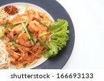 thai food pad thai   stir fry... | Shutterstock . vector #166693133