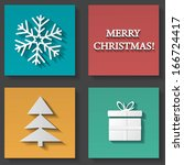 christmas icons set | Shutterstock .eps vector #166724417